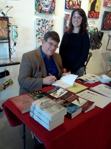 Ashley Crookham author with Dale Grove book signing