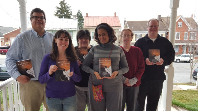 Western Maryland Writers Group Anthology 2015 Signing with Authors and Editor