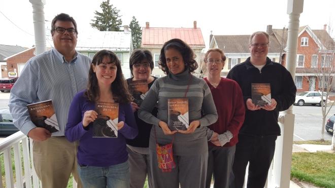 Western Maryland Writers Group Anthology 2015 Signing with Authors and Editor