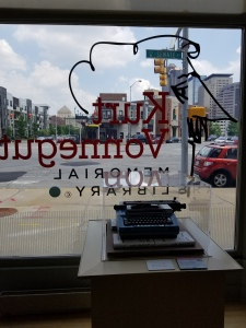Kurt Vonnegut Memorial Library front window